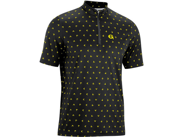 Gonso Peio Half-Zip SS Bike Shirt Men black/yellow allover